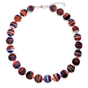 rød-lampwork-håndlaget-smykke-halskjede