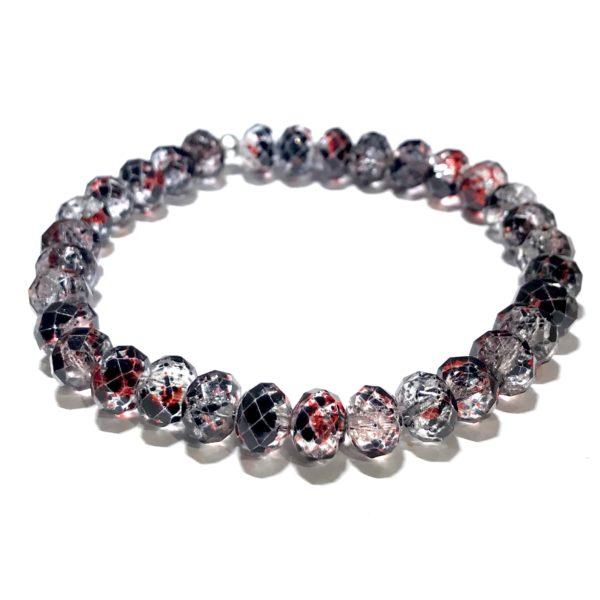 rød-sort-elastisk-glass-armbånd