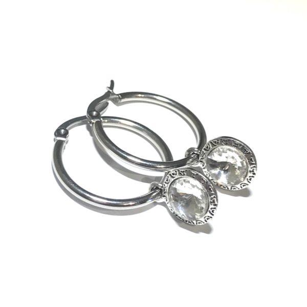 stål-sølv-ørering-ørepynt-øreanheng