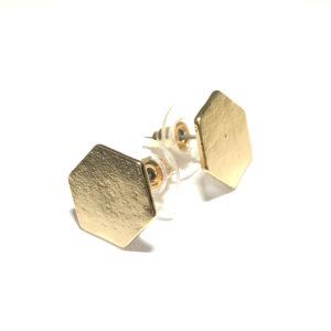 gull-hexagon-øredobber-ørepynt