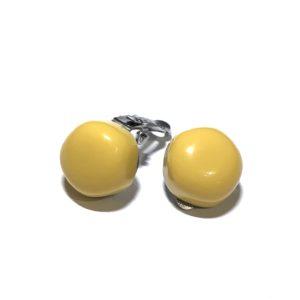 gul-stål-øredobber-ørepynt