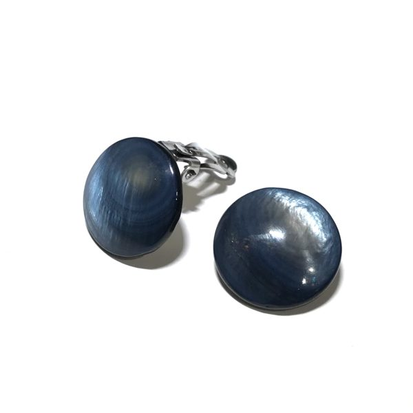 blå-skjell-perlemor-stål-klips-øredobber-ørepynt