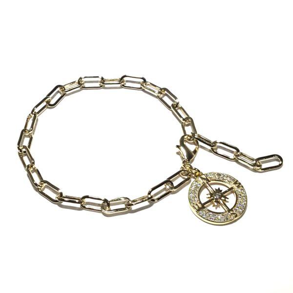 gull-armbånd-kompass-rose
