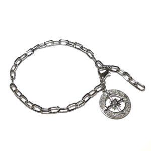 sølv-armbånd-kompass-rose