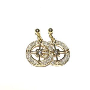 gull-kompass-rose-ørepynt-øreanheng-øredobber