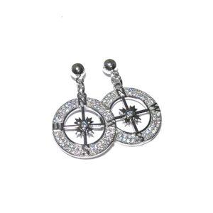 sølv-øreringer-ørepynt-kompass-rose